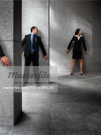 Entreprise gens se cacher les uns des autres