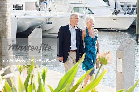Couple Walking Along Waterfront