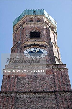Clock Tower de Munich Frauenkirche, Munich, Allemagne