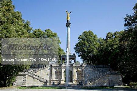 Ange de paix Monument, parc Maximilien, Bogenhausen, Munich, Allemagne