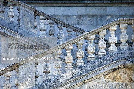 Escalier à l'ange de paix Monument, parc de Maximilian, Munich, Allemagne