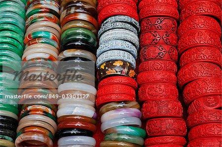 Bangals sur le marché de Jade. Hong Kong, Chine