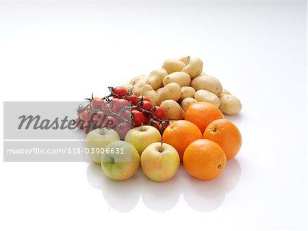 Légumes et fruits sains