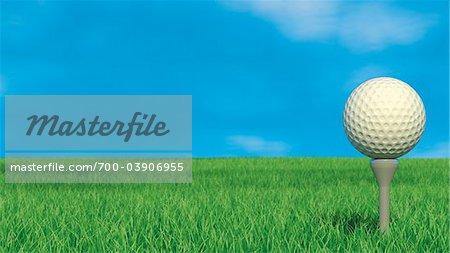 Golf Ball and Golf Tee