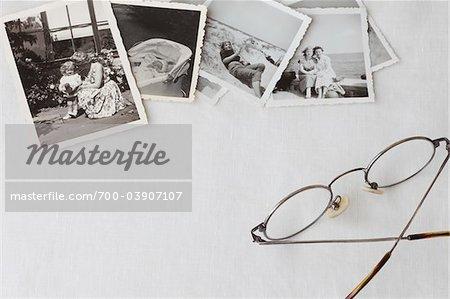 Still Life of Vintage Photographs