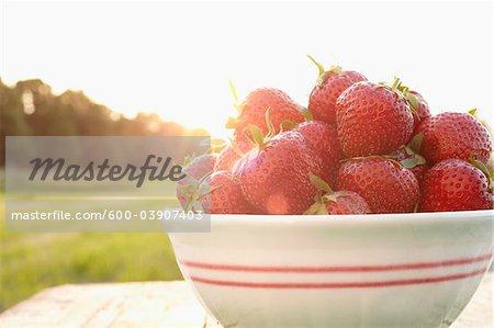 Nahaufnahme von Erdbeeren