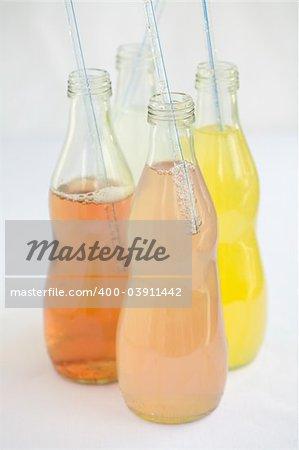 Assorted Flavored Sodas, orange, lemon, berry, pink lemonade,