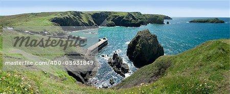 mullion cove cornish coast cornwall england uk