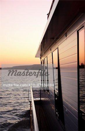 Houseboat cruising the Murray River