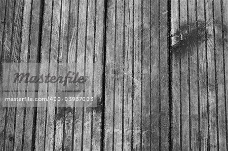 old, weathered wooden floor, taken outdoors
