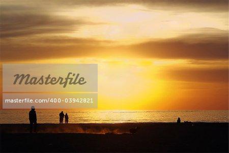 Amazing sunset in the tirrenean coast of Tuscany