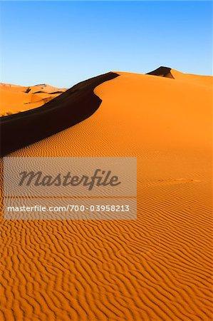 Sand Wellen auf Sanddüne, Erg Chebbi, Marokko
