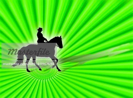 Black horse silhouette as symbol of equestrian sport