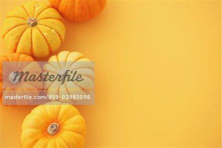 Potirons jaunes et oranges