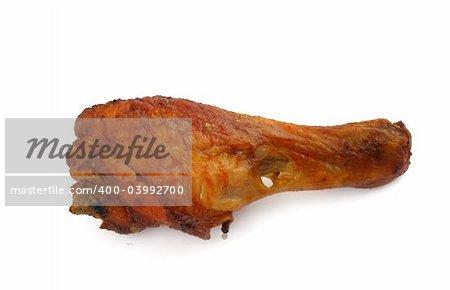 fried chicken leg on white background #2