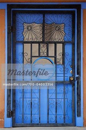 Bleu porte, Ranchos de Taos, Nouveau-Mexique, États-Unis