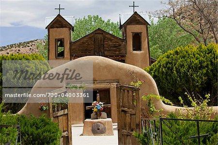 El Santuario de Chimayo, Chimayo, Nouveau-Mexique, États-Unis