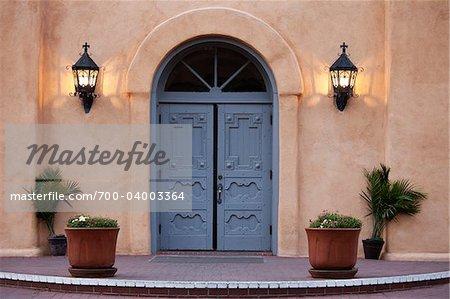 Portes de l'église de San Felipe de Neri, Albuquerque, Nouveau-Mexique, États-Unis