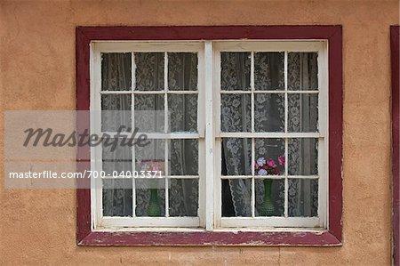 Gros plan de la fenêtre, Pueblo Acoma, comté de Cibola, Nouveau-Mexique, États-Unis