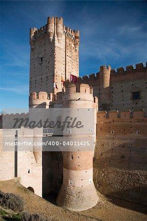 ancient castle named La Mota in Medina del Campo city in Valladolid spain