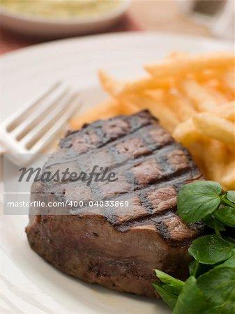 Fillet Steak Frite and Watercress