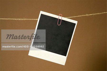 Polaroid Frame On the Rope