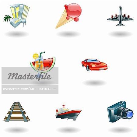 A travel and tourism web icon set