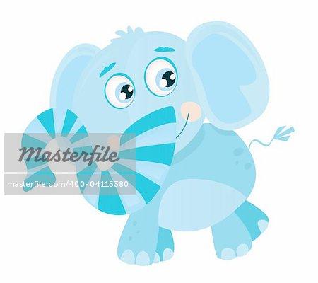 Funny jungle animal. Vector Illustration.