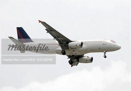 Modern passenger jet airplane in flight