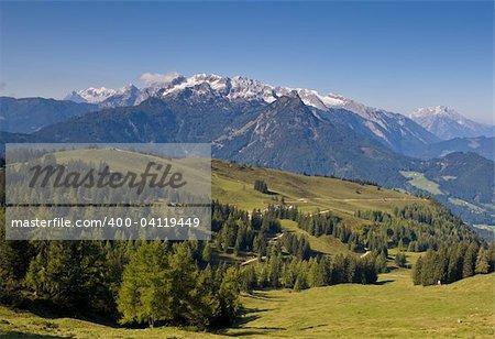 Gosau view from Gosaukamm, beautiful town in Salzkammergut region, Austria