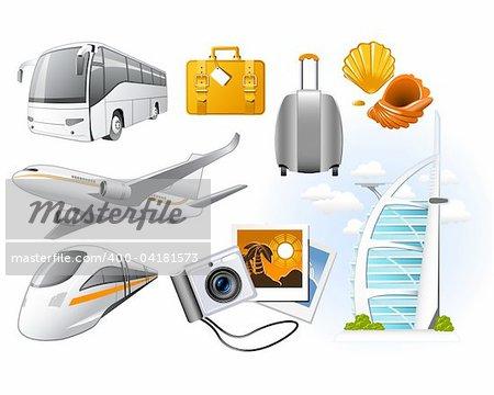 Déplacement des icônes avec des attributs de transport et de repos