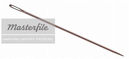 large needle to sewing on white background