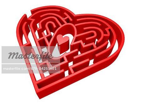 Heart Maze, computer artwork