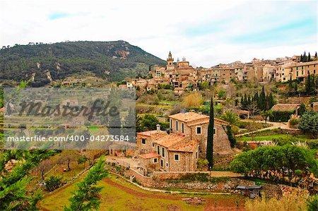 a view of Valldemossa, Mallorca, Balearic Islands, Spain