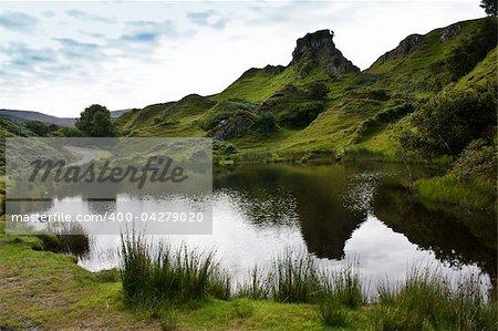 Scottish landscape in a cloudy day - Sutherland region