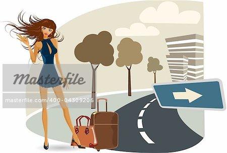 the vector girl on her travel eps 8