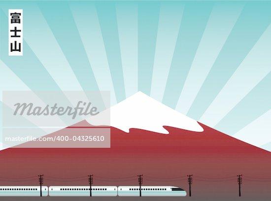 vector illustration of the fuji mountain