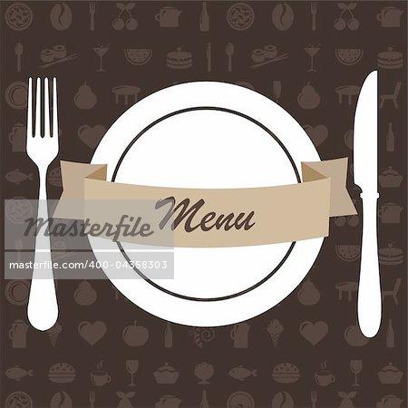 Restaurant Menu, Vector Illustration