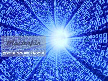 3d illustration of digital tunnel background