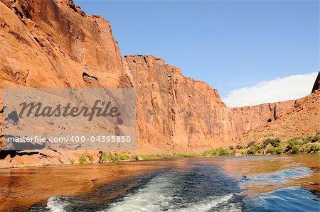 The Colorado River in Glen Canyon Arizona