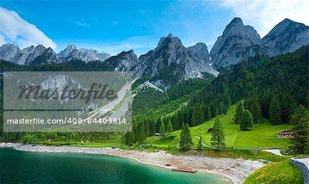 Beautiful summer Alpine  lake Gosausee view (Austria)