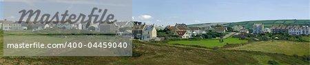 tintagel village the cornish coast cornwall england uk