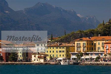 A beatiful view of Torbole skyline (garda lake, Italy)