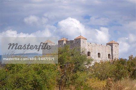 Ancient European castle in Croatia