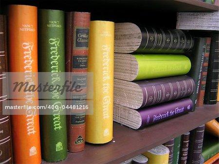 Antique Books close up