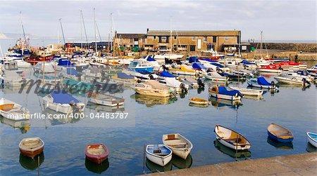 lyme regis dorset england uk the harbour
