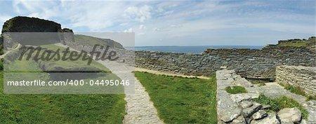 Château de Tintagel du cornique côte de cornwall en Angleterre