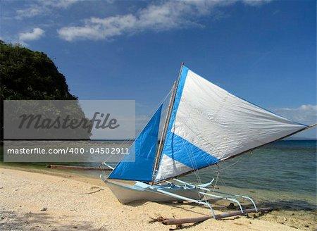 Philippine fishing boat, Puerto Galera
