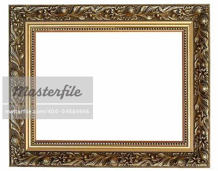 antique frame on white