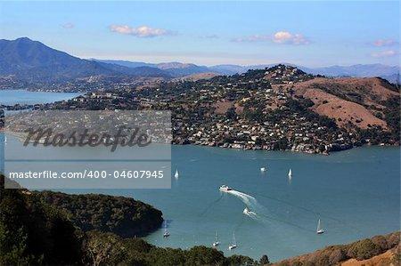 Aerial view at Bay Area California